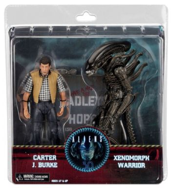 NECA Aliens Hadley's Hope Action Figure 2 Pack Carter J Burke Xenomorph Warrior